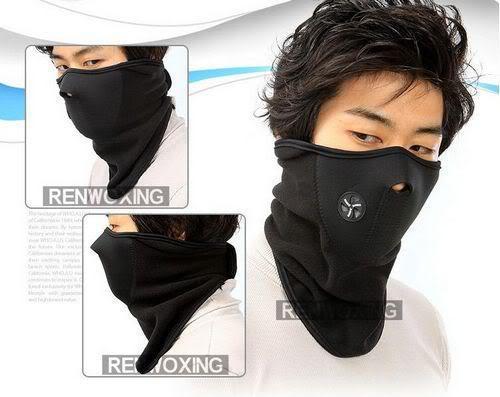 Bike Motorcycle Ski Snow Snowboard Sport Neck Winter Warmer Face Mask New Black - Hard-working people store