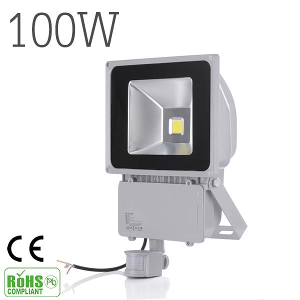 100w 9000lm led sensor flood light ip65 ac 85 265v for Projecteur led exterieur 100w