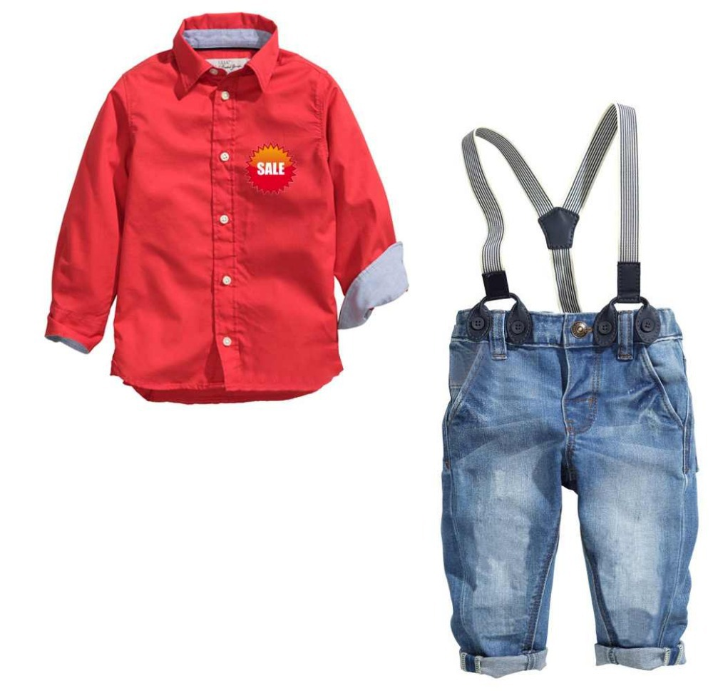 Boys Red Dress Shirt