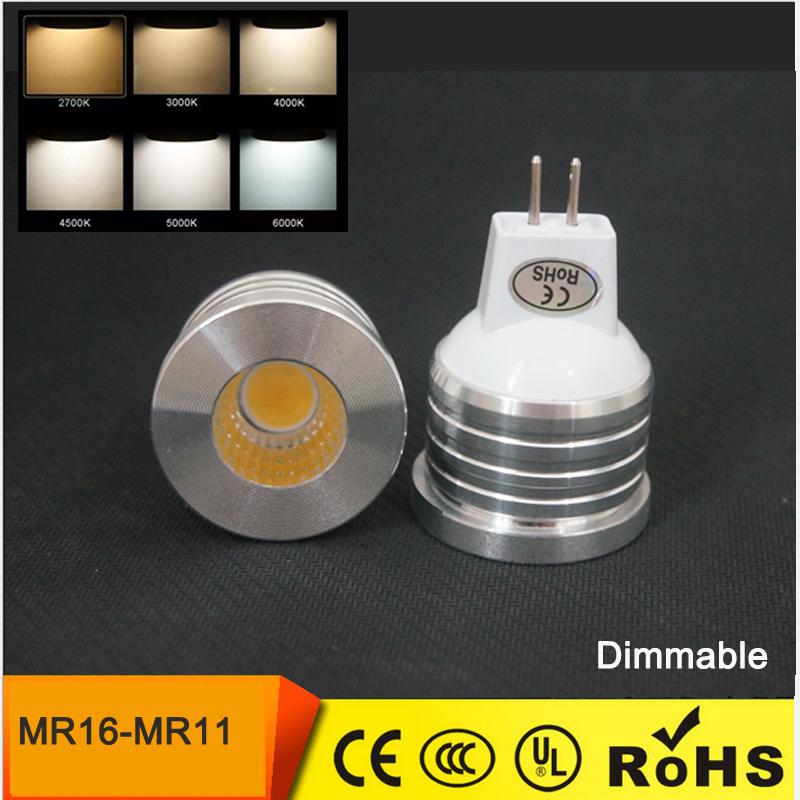 Lampadina Led mini MR16 MR11 COB SHARP LED BULBS 3W 5W 7W 12V Lampada spot cob Light lamp warm white downlight light