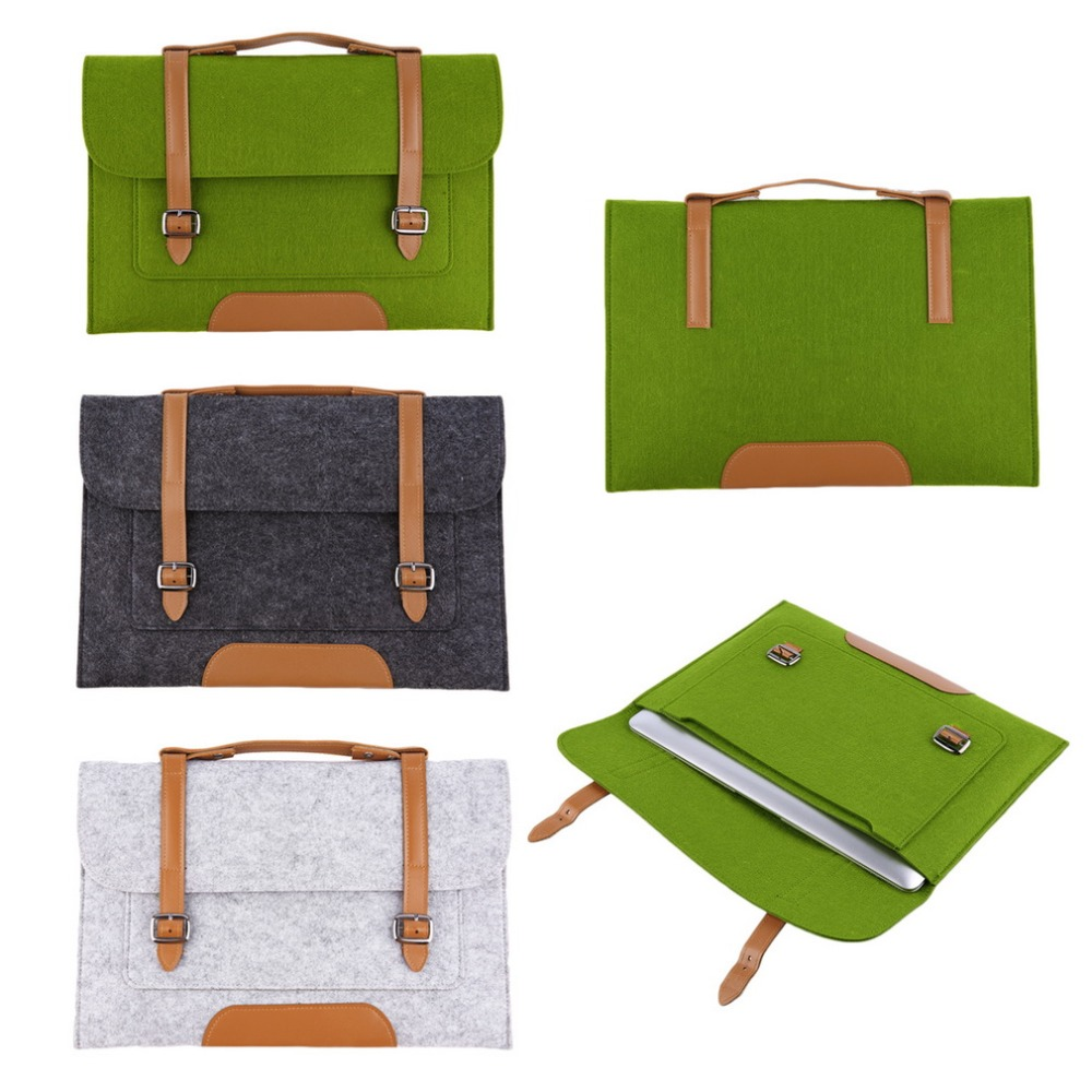 Fashion 13 inch Woolen Felt Laptop Cover Case Notebook Sleeve Bag Pouch For Apple Macbook Pro Air for laptop tablets notebook(China (Mainland))