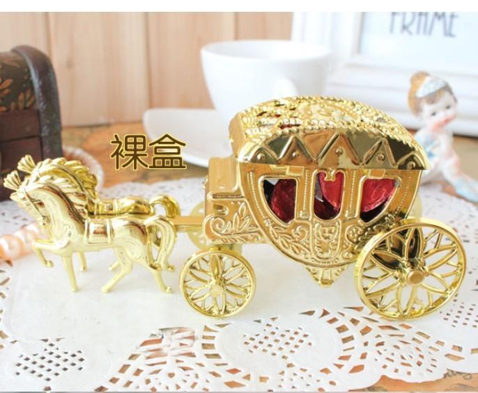 Cinderella Carriage Favor Boxes : Wholesale pcs lot gold themed cinderella carriage