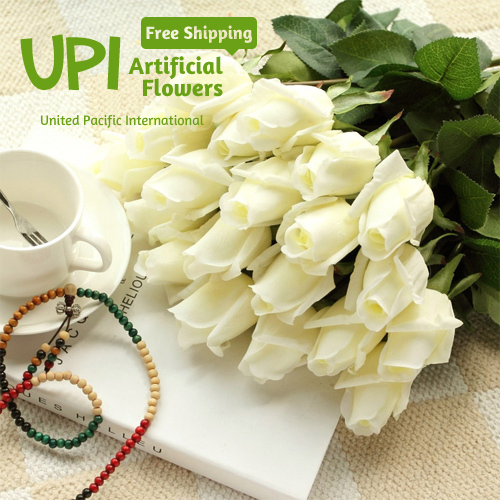 (2) Fresh Rose Artificial Flowers Real Touch Home Decorations Wedding Party Birthday Flores - Union Pacific International Trading Ltd. store