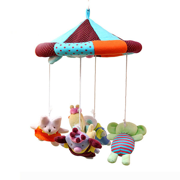 Colorful Animals Educational Baby Toy 0-12 Months , Mobile In Cot Beds Music Rattles Stroller Bed Hanging Toys For Baby(China (Mainland))