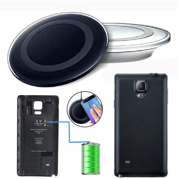 Lovesky NEW Hot Sale Qi Wireless Charging Receiver Pad+Battery Cover Kit for Samsung Galaxy Note 4 Freeshipping & Wholesale(China (Mainland))