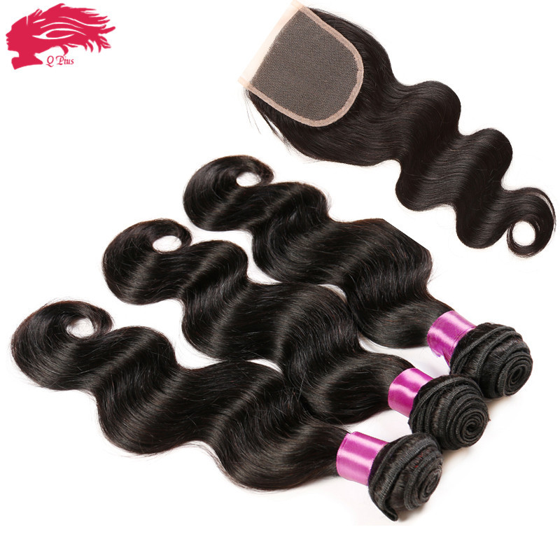 New star peruvian body wave human hair bundles with lace closure mixed natural color 6A unprocessed virgin hair free shipping<br><br>Aliexpress