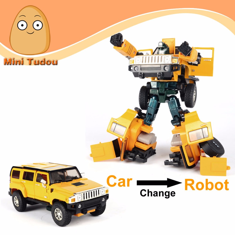Minitudou Deformation 1:32 Mini Auto Metal Toy Cars Model Change Into Robot Miniatures Metal Car Toys For Children(China (Mainland))