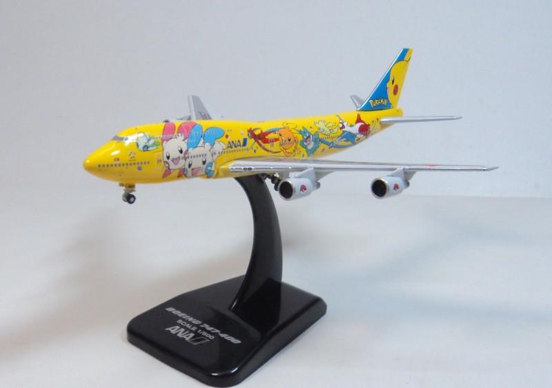 Hogan 1: 500 ANA B747 -400D Pikachu Pokemon JA8957 Diecast airplane model(China (Mainland))