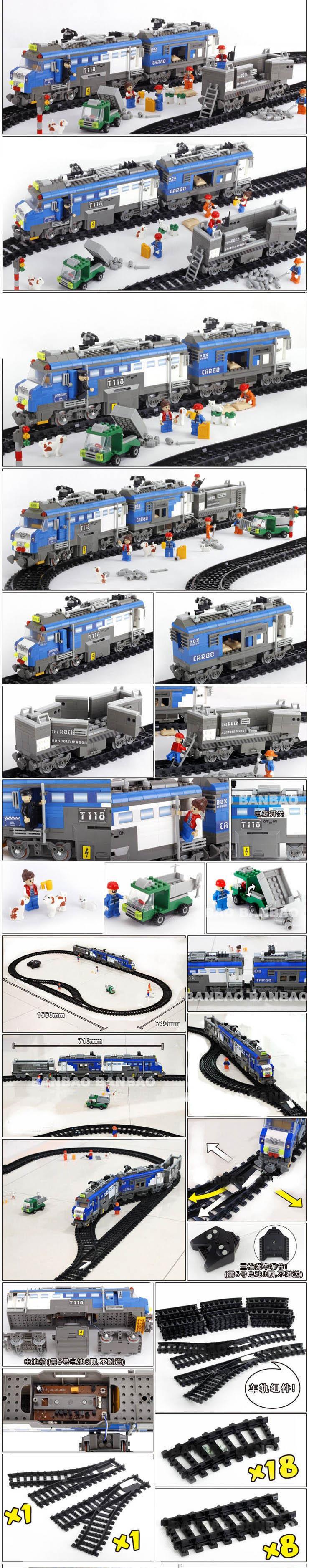 Distant Management toys Freight Prepare 1275pcs RC Transport Plastic Mannequin Constructing Block Units Academic DIY Bricks children toys