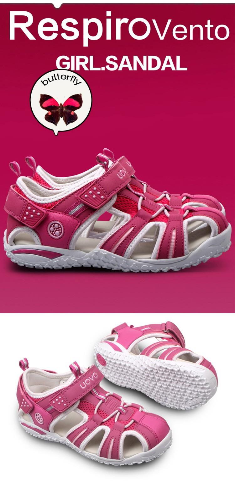 UOVO New Children Beach Girls Sandals,Safe Kids Shoes For Boys,Nonslip Sandalias Infantil,Girls Shoes,Children Shoes Girls,24-38