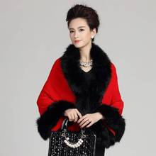 #2901 Scarf luxury brand Ponchos and capes Autumn 2016 Fake fox fur Shawls and scarves Cachecol inverno Knitting shawl collar