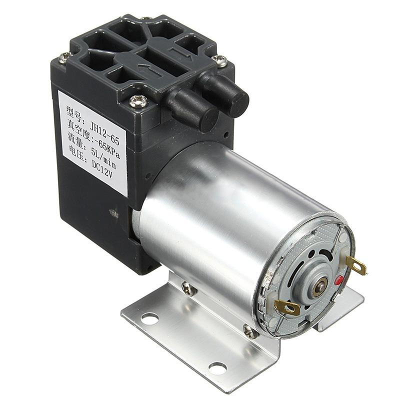 12V 6W Mini Vacuum Pump High Pressure Electric Diaphragm Pump with Holder 5L/min(China (Mainland))