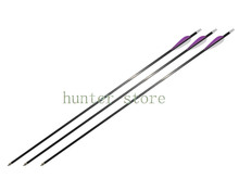 archery 31 carbon arrow 350 SP MIX carbon shaft ID 6mm for take down bow hunting