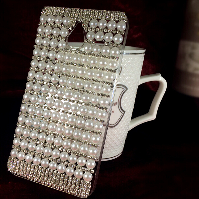 Beautiful Stylish Rhinestone 3D White Pearls Hard Case Cover For BlackBerry Passport Silver Edition Case Free shipping(China (Mainland))