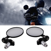 """Buy universal Black Motorcycle rearview Mirrors 7/8"""" BMW Ducati Aprilia Cafe Racer Victory Triumph Daytona 675 cafe racer for $11.47 in AliExpress store"""