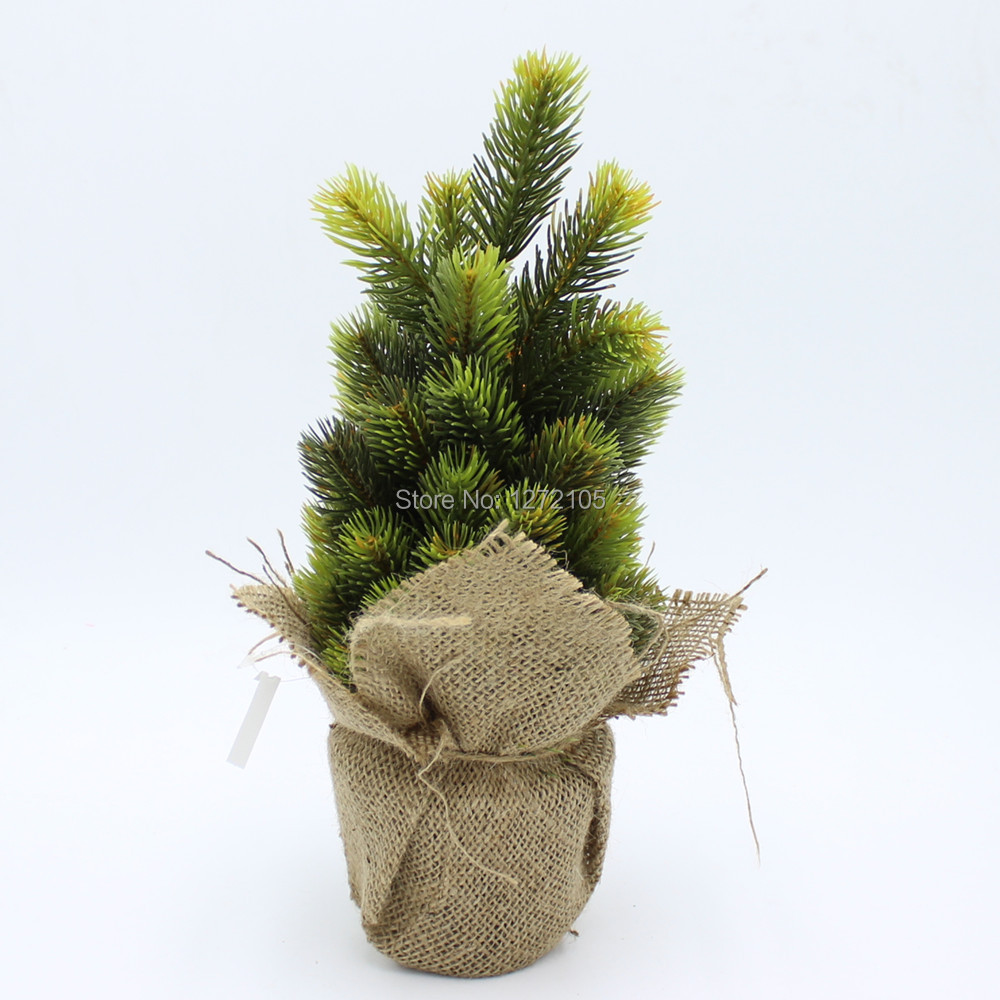 2015 Sale Real Decoration Crafts H35cm Pine Tree Decorative Bonsai Home Artificial Flowers Free Shipping Christmas With The Vase(China (Mainland))