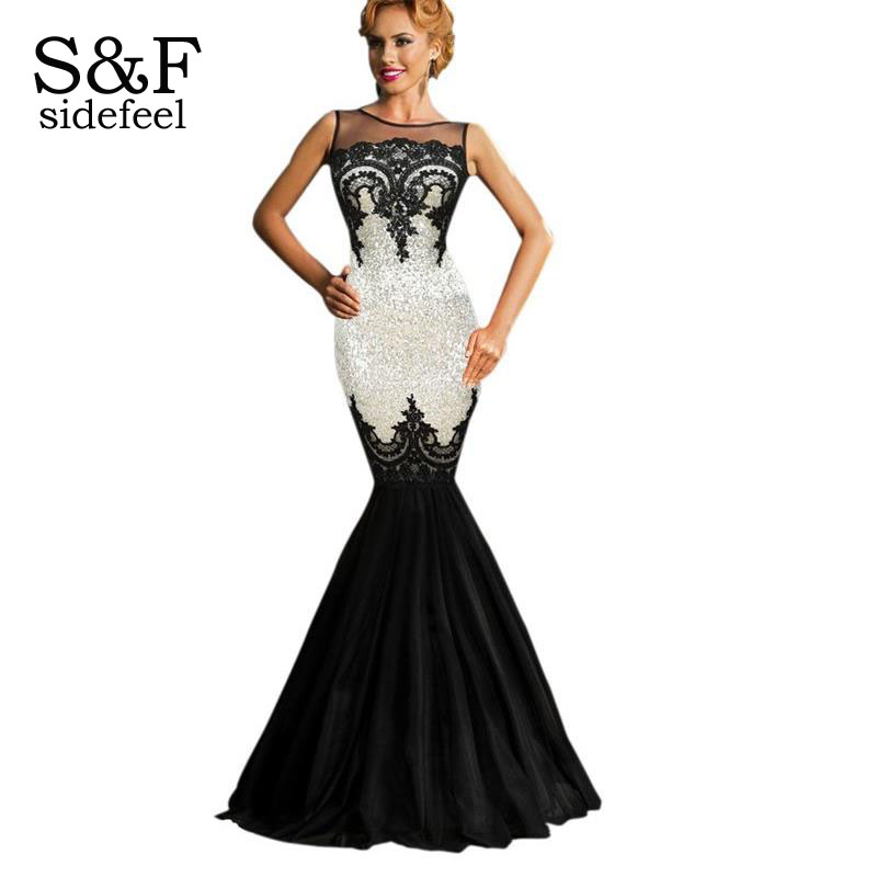 Sexy Silver Sequin Applique Evening Party Mermaid Dress LC60633 Elegant Sleeveless Backless Ankle-Length robe de soiree longОдежда и ак�е��уары<br><br><br>Aliexpress