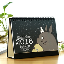 Totoro 2016 table calendar desk planner agenda Stationery Office material School Supplies papelaria calendario calendrier 6805(China (Mainland))