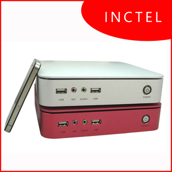 IN-D2550 2G RAM 16G SSD or 80G HDD with Intel D2550 1.86Ghz embeded pc industrial computer thin client with windows 7 ultimate
