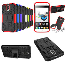 HH Motorola Moto G4 Case Heavy Rugged Hybrid TPU+PC Kick Stand Armor Impack Shockproof Back Cover Plus - XinJie co., LTD store