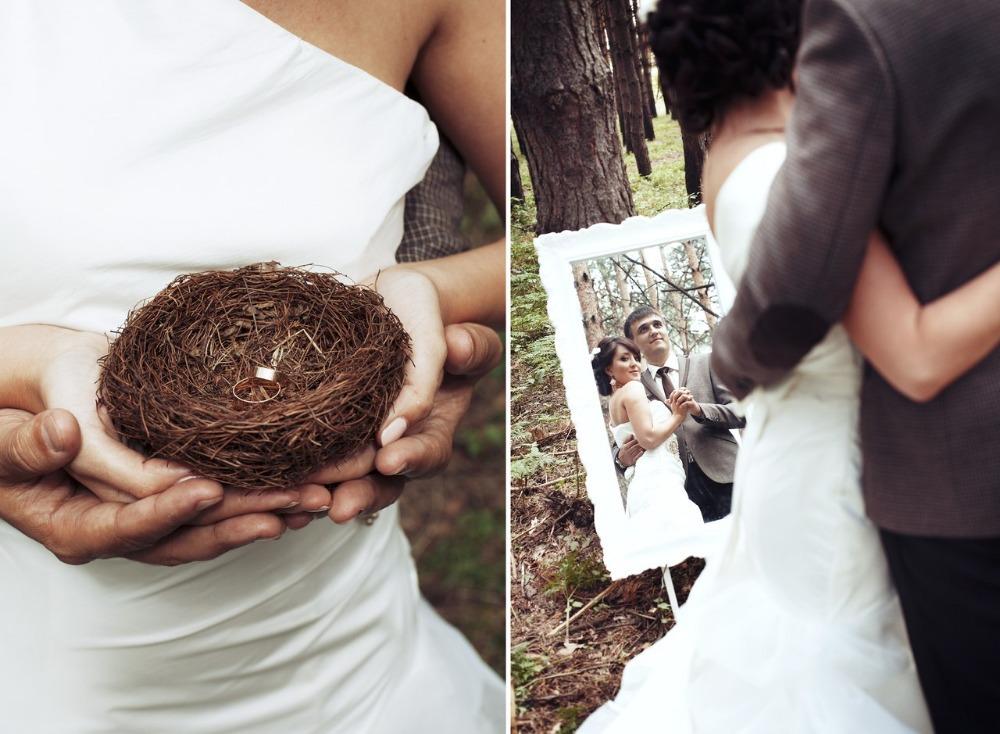 Livraison gratuite Zakka Vintage décoration accessoires réel nid d'oiseau 100% Cage à oiseaux créative proposition mariage mariage accessoires de photographie(China (Mainland))