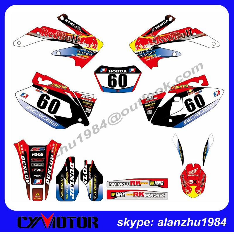 FREE SHIPPING HIGH PERFORMANCE CRF450X 2009 2010 2011 2012 2013 2014 MOTORCYCLE GRAPHICS 60 BACKGROUND DECALS STICKERS KITS<br><br>Aliexpress