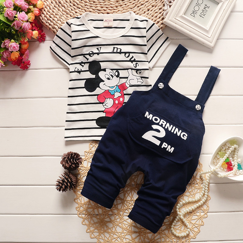 2017 Brand New Summer Baby Sport Suit 100% Cotton Fashion Cartoon Design Baby Boys Clothing Set For 1 2 3 Years Old(China (Mainland))
