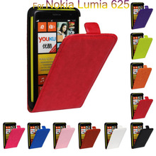 10 Colors For Nokia Lumia 625 N625 Leather Flip vertical Case cover Holster Senior Phone Back Cover celular Fundas Capa Para(China (Mainland))