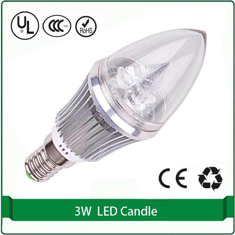led lamp 12V e14 Free shipping 3W high power led bulbs candelebra led bulbs led bulb 12v e14 candle e14 12V 3W(China (Mainland))