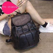 Buy Backpack Women High Backpacks Teenage Girls 2017 Fashion Leather Backpack Travel Mochilas Mujer Women Backpack for $15.80 in AliExpress store