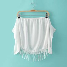 Blusas Femininas 2015 Spring Summer Sexy Tops Girls High Street Seathrough Lace Shirts White Off the Shoulder Strapless Blouse(China (Mainland))