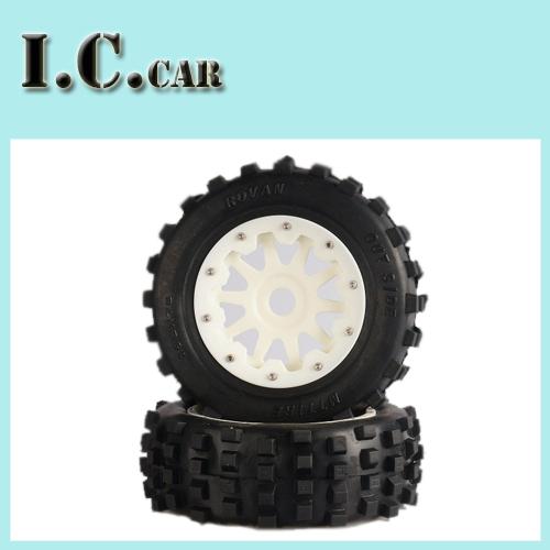 Фотография baja 5T 5SC Front Knobby Wheel with Heavy Duty Nylon Hub for 1/5 HPI Baja 5T 5SC Parts Rovan KM