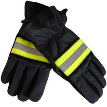 Fire rescue gloves with reflective stripe(China (Mainland))