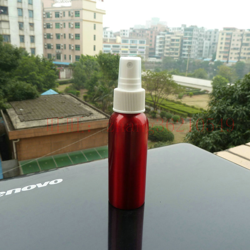 80ml aluminum red bottle With white plastic mist sprayer.aluminum perfume atomizer bottle container<br><br>Aliexpress