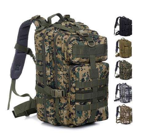Brand Men's Outdoor Military Tactical Backpack Waterproof Camping Bag Hiking Trekking Rucksack Sport Climbing Survival Carry - Lucky girl bags store