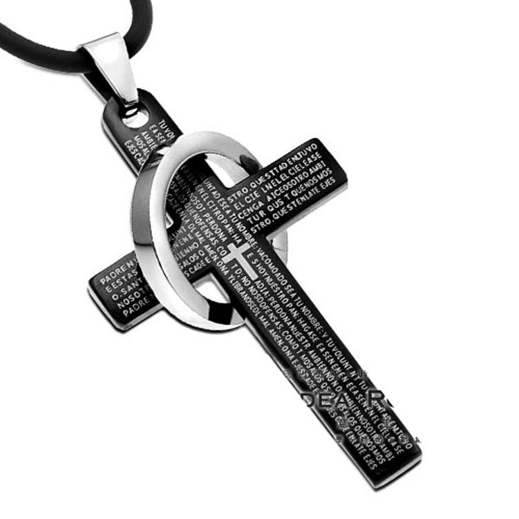 Rosary Cross Necklaces For Men Men Retro Cross Necklace
