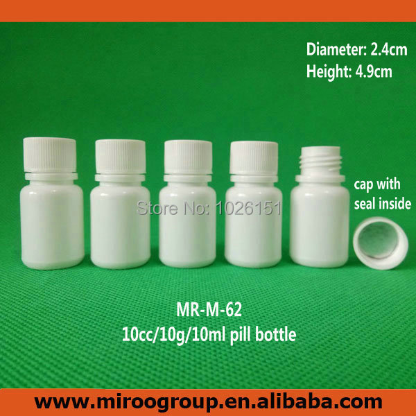 500pcs 10g 10cc 10ml small plastic containers pill for Small pill bottles
