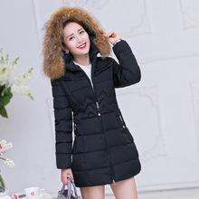 2016 new women winter coat womens clothing Medium-Long Cotton Padded slim warm Jacket coat High Quality