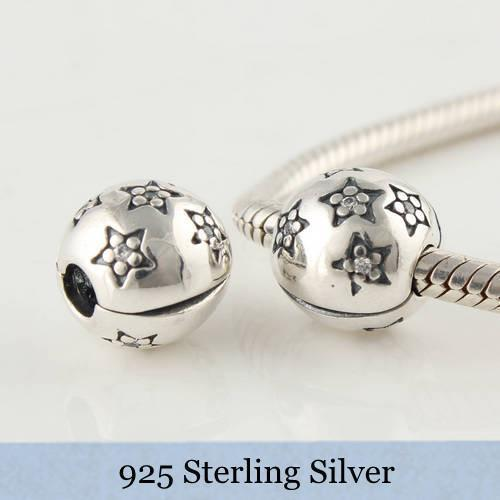 NEW Authentic 925 Sterling Silver Charms Beads Clip Fits European Style Bracelet / Necklace KT066-N - Dorothy_Charm beads store