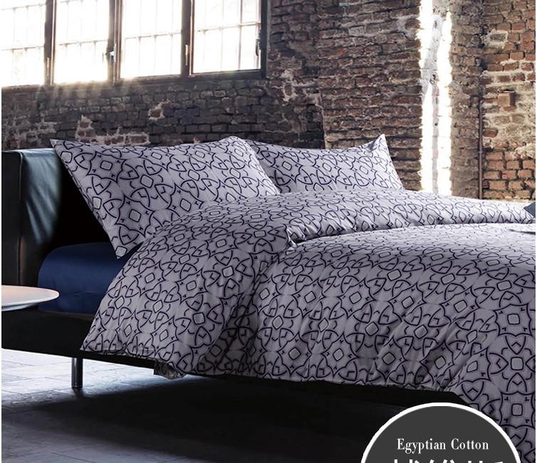 Acheter 100 coton gyptien literie feuilles de luxe gris bleu violet roi reine - Housse de couette coton egyptien ...