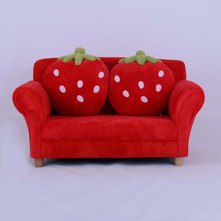 Kids Toddlers Sofa Lounge Couch Strawberry Double Seat Children Sofa Red Or Pink Colour
