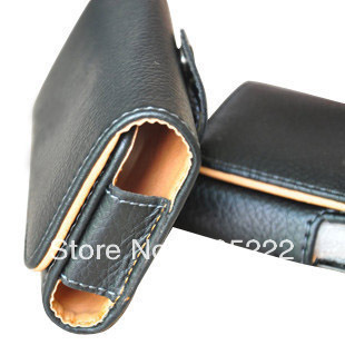 Black PU Leather Belt Clip pouch Case for 5inch android phone ZOPO C1 ZP C2 in stock Free Shipping(China (Mainland))