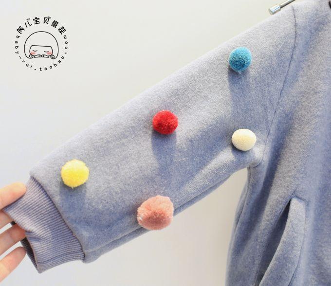 Скидки на 2016 Зима Новый Девушки Мяч Бейсбол Куртка + Брюки Широкую Ногу 2 шт. Набор детской Бесплатная Доставка