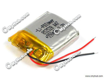 3.7V 550mAh HK0010500GM For Li-POIymer 852528P 8.5x25x28mm (HxWxL) Lipo Lithium Polymer Rechargeable Battery