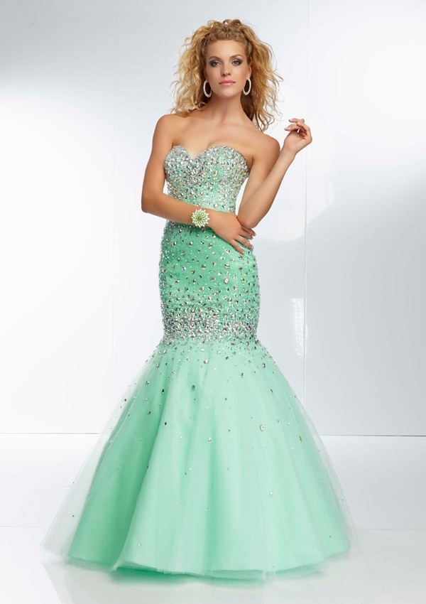 Inspirtation Sweetheart Crystal long mermaid prom dresses yellow gown 2015 Evening Formal Gowns - ETDRESS Store store