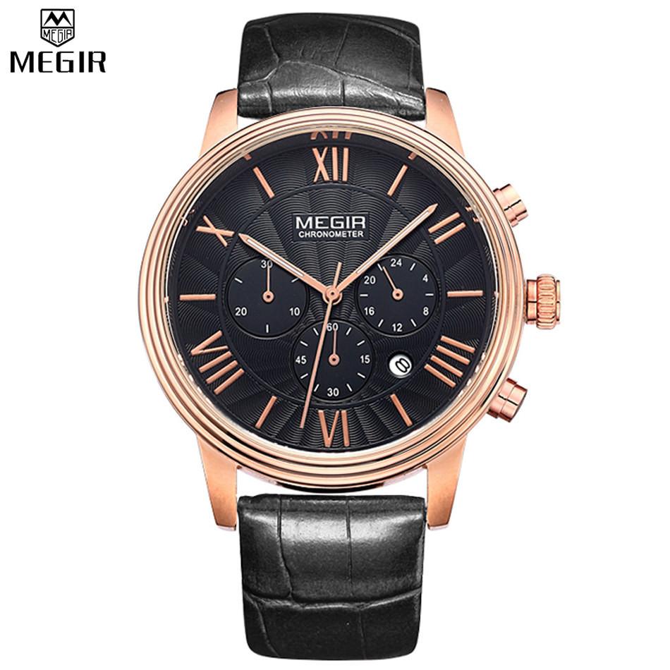 MEGIR Спорт Простой Стиль Многофункциональные Часы Мужчины Военный Кварц Водонепроницаемый Новый Стиль Часы Relógio Masculino