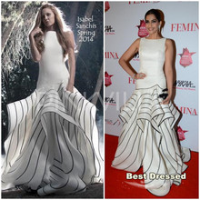 Sonam Kapoor Cannes Film Festival Sleeveless Rüschen Vestidos De Festa 2015 Maxi Celebrity Sommer Kleid Formale Kleider(China (Mainland))