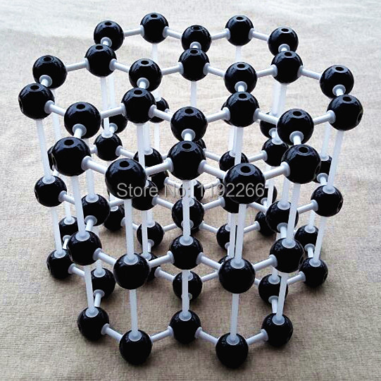 Chemistry molecular model LZ-23210 3layers 7 carbon hexagons Graphite crystal structure model Chemical teaching free shipping(China (Mainland))