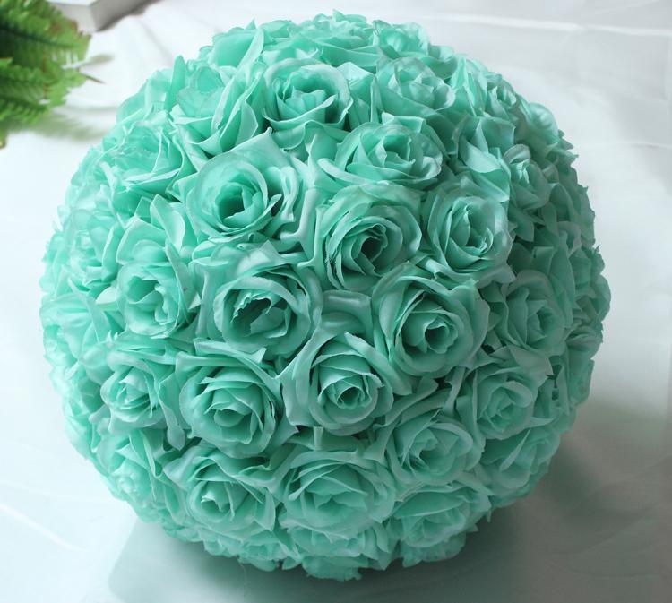 Quot cm hanging decorative flower ball centerpieces silk