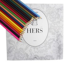 Hers Coloring Book Send 18 Colours Pencils(China (Mainland))